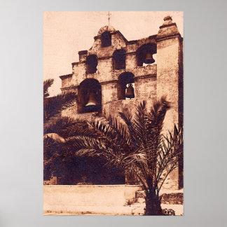 San Gabriel California Spanish Mission Posters