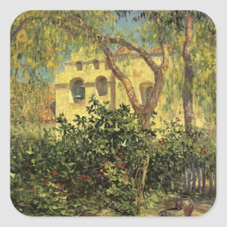 San Gabriel Mission by Guy Rose Square Sticker