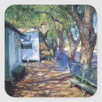 San Gabriel Road by Guy Rose Square Sticker