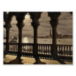 San Georgio from Doges' Palace by moonlight, Venic Posters