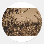 San Gimignano Classic Round Sticker
