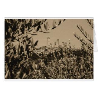 San Gimignano II Card