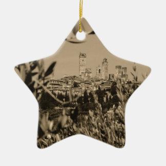 San Gimignano II Ceramic Ornament