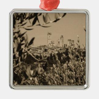 San Gimignano II Metal Ornament
