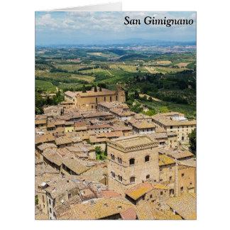 San Gimignano, Italy Card