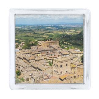 San Gimignano, Italy Silver Finish Lapel Pin