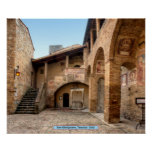 San Gimignano, Toscana, Italia Póster
