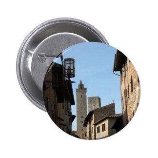 San Gimignano Tuscany Italy Button