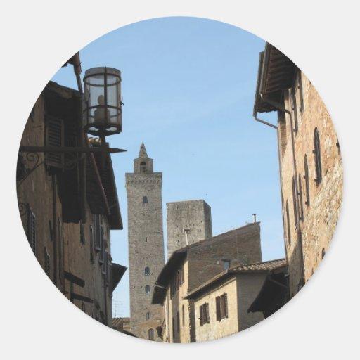 San Gimignano Tuscany Italy Classic Round Sticker