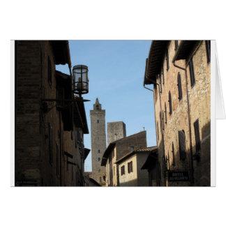 San Gimignano Tuscany Italy Greeting Card