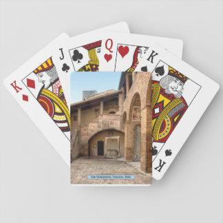 San Gimignano, Tuscany, Italy Poker Cards