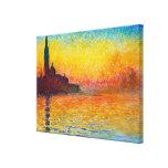 San Giorgio Maggiore at Dusk  Claude Monet Canvas Print
