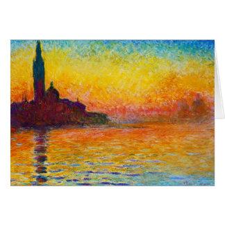 San Giorgio Maggiore at Dusk  Claude Monet Stationery Note Card