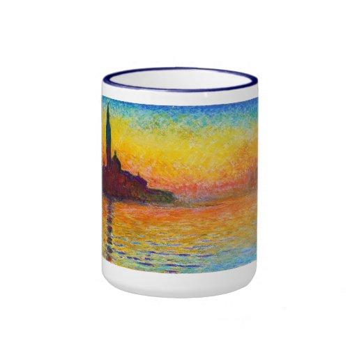 San Giorgio Maggiore at Dusk  Claude Monet Ringer Coffee Mug