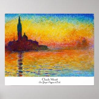 San Giorgio Maggiore at Dusk Claude Monet Poster