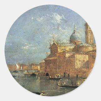 San Giorgio Maggiore by Francesco Guardi Classic Round Sticker