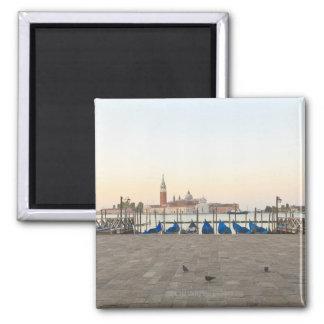 San Giorgio Maggiore viewed from Riva degli 3 2 Inch Square Magnet