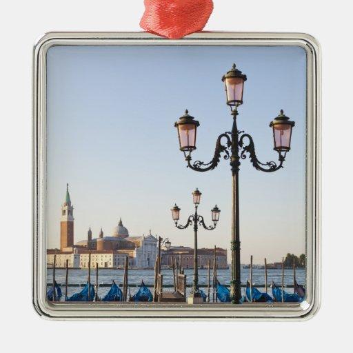 San Giorgio Maggiore viewed from Riva degli Square Metal Christmas Ornament