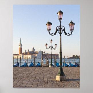 San Giorgio Maggiore viewed from Riva degli Poster