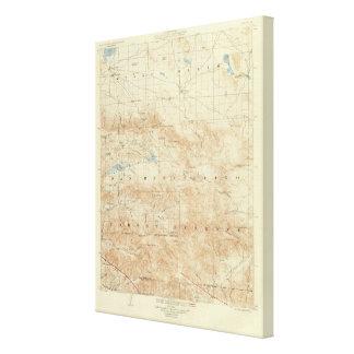 San Gorgonio quadrangle showing San Andreas Rift Canvas Print
