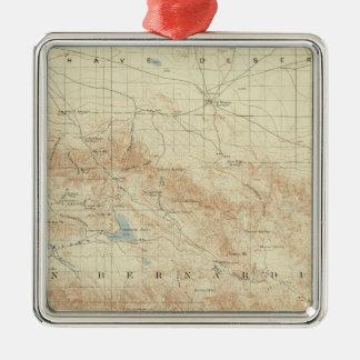 San Gorgonio quadrangle showing San Andreas Rift Metal Ornament
