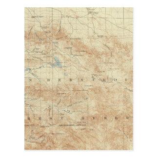 San Gorgonio quadrangle showing San Andreas Rift Postcard