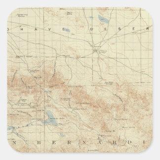 San Gorgonio quadrangle showing San Andreas Rift Square Sticker