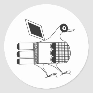 San Idelfonso Pueblo Bird Classic Round Sticker