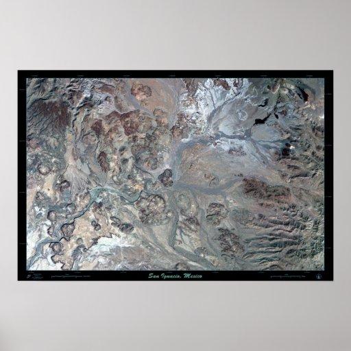 San Ignacio, poster del satélite de Baja Californi