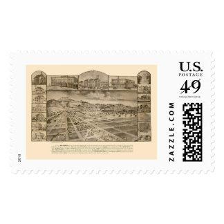 San Jacinto, CA Panoramic Map - 1886 Postage