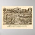 San Jacinto, CA Panoramic Map - 1886 Poster