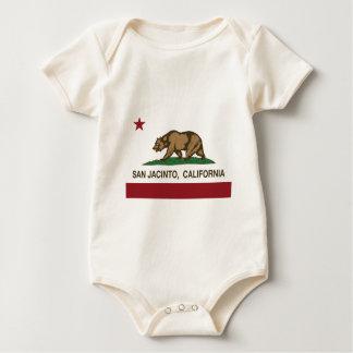 san jacinto california flag baby bodysuit