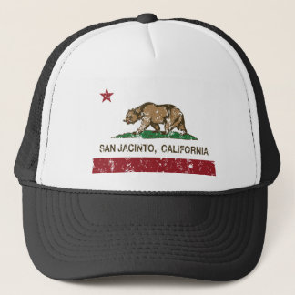 san jacinto california flag trucker hat