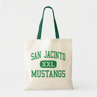 San Jacinto - Mustangs - Junior - Midland Texas Budget Tote Bag