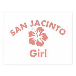 San Jacinto Pink Girl Postcard