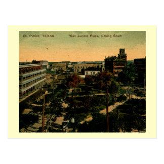 San jacinto Plaze, El Paso, Texas Vintage Postcard