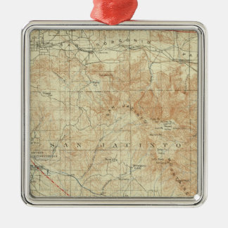 San Jacinto quadrangle showing San Andreas Rift Metal Ornament
