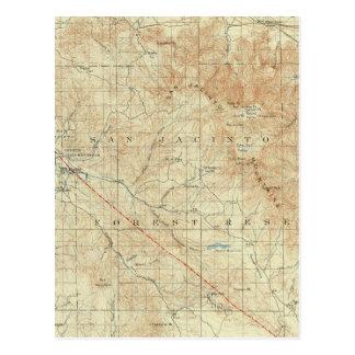 San Jacinto quadrangle showing San Andreas Rift Postcard