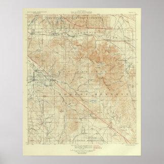 San Jacinto quadrangle showing San Andreas Rift Poster