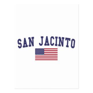 San Jacinto US Flag Postcard