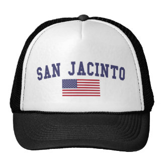 San Jacinto US Flag Trucker Hat