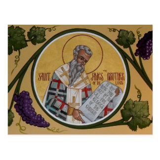 San Jaime Brother de nuestro señor Prayer Card Tarjetas Postales