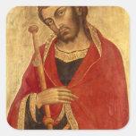 San Jaime el grande Calcomanía Cuadradas