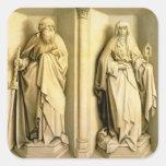 San Jaime el grande y el St. Clare Pegatina Cuadrada