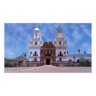 San Javier del Bac Mission - Tucson, AZ Plantilla De Tarjeta De Negocio