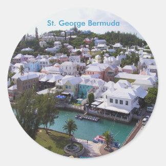 San Jorge Bermudas Etiquetas Redondas