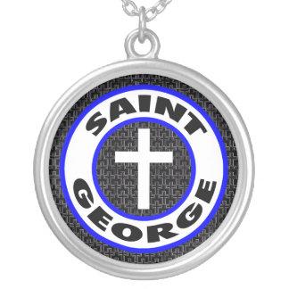 San Jorge Collar Plateado