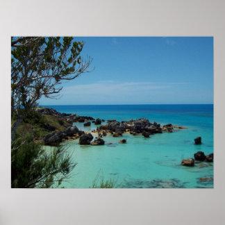 San Jorge histórico Bermudas Póster