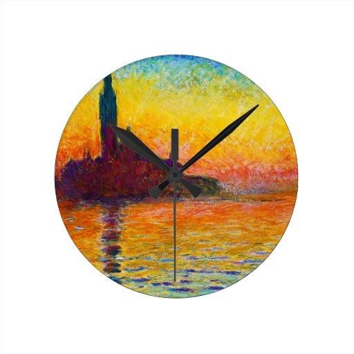 San Jorge Maggiore en la oscuridad Claude Monet Relojes