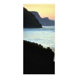 San Jorge, puesta del sol de Pribilof sobre altos  Plantilla De Lona